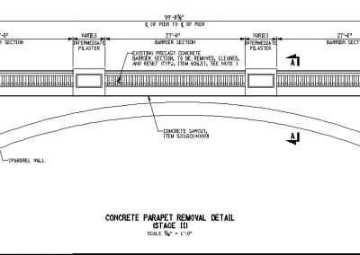 Centerway Arch Bridge Precast Fascia Panels